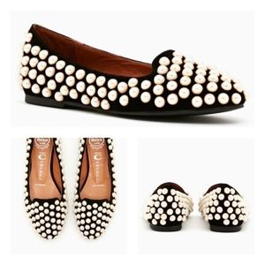 Jeffrey Campbell Pearl Embellished Flats Shoes